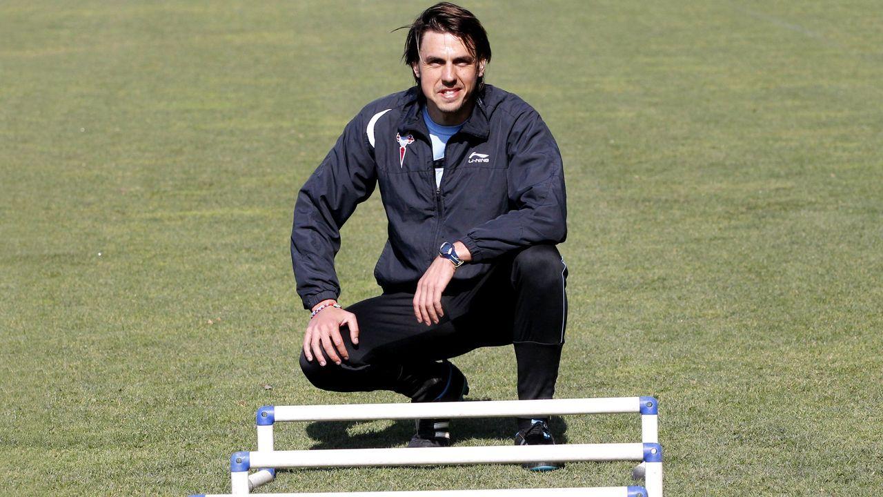 Fran Albert en su etapa como miembro del cuerpo técnico del Celta