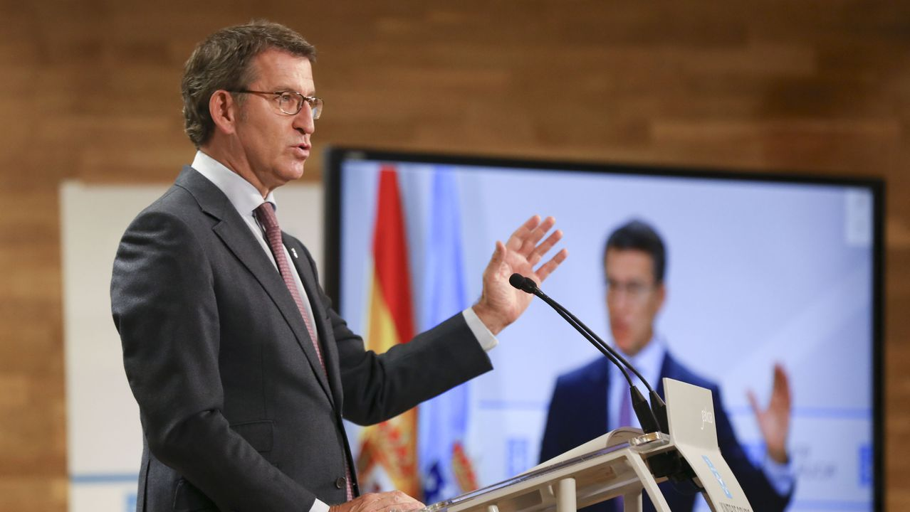 Gonzalo Caballero responde a las preguntas de los lectores de La Voz de Galicia.Pedro Sánchez y Pablo Iglesias en el acto de presentación del proyecto de Presupuestos del 2021