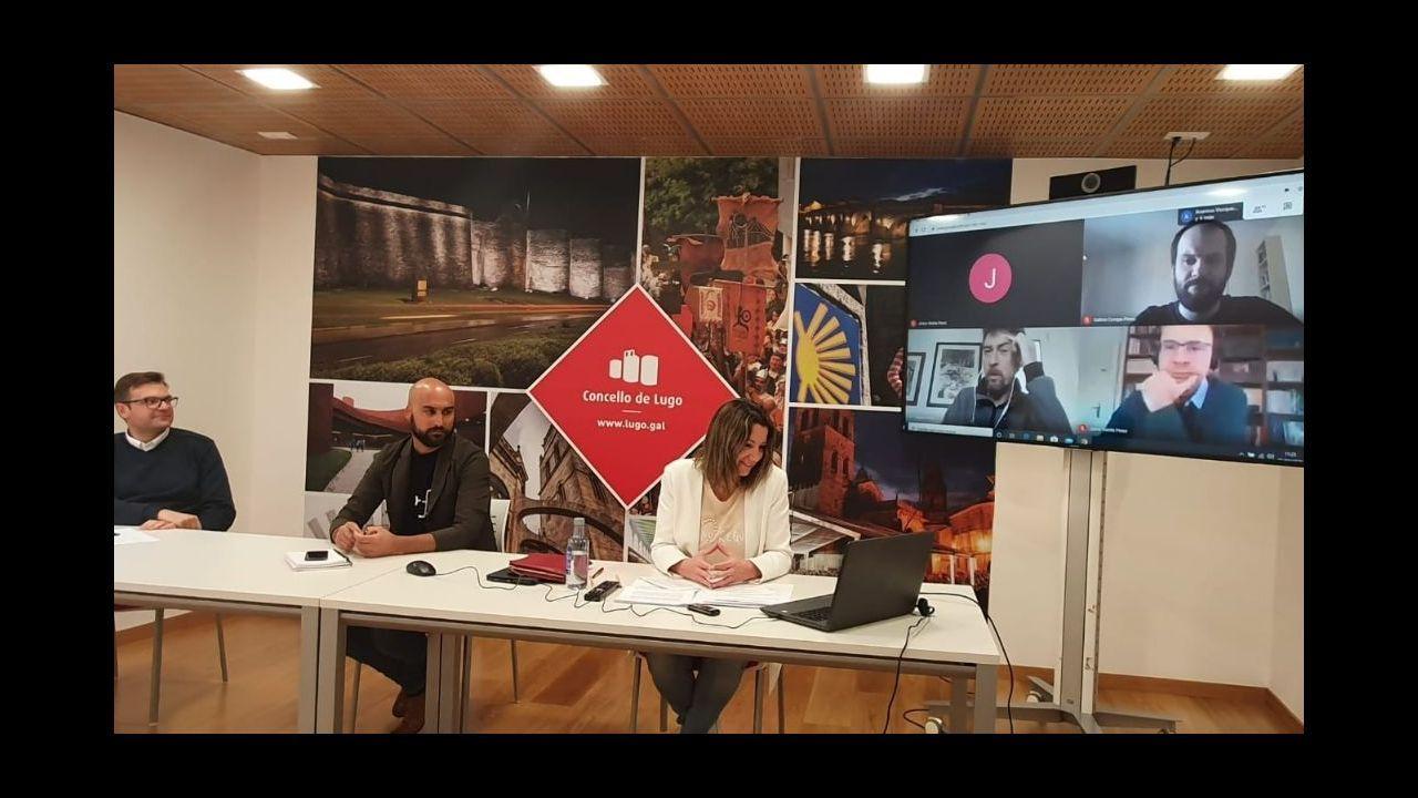 La alcaldesa de Lugo explica en rueda de prensa telemática las medidas económicas del Concello por el coronavirus