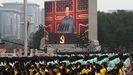 Xi Jinping, durante su discurso en  las celebraciones  por el centenario del PCCh, en la plaza  de Tiananmen.