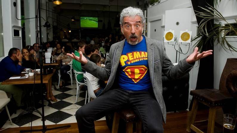 Sergio Pazos en el Bla Bla Cafe, el pasado agosto
