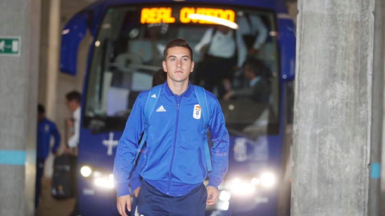 Javi Hernández, durante su etapa como jugador del Oviedo