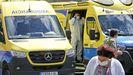 Ambulancias, en el exterior del Hospital Provincial de Pontevedra