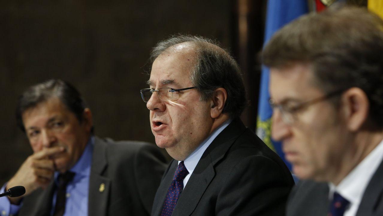 Javier Fernández, Feijoo y Juan Vicente Herrera, en Madrid