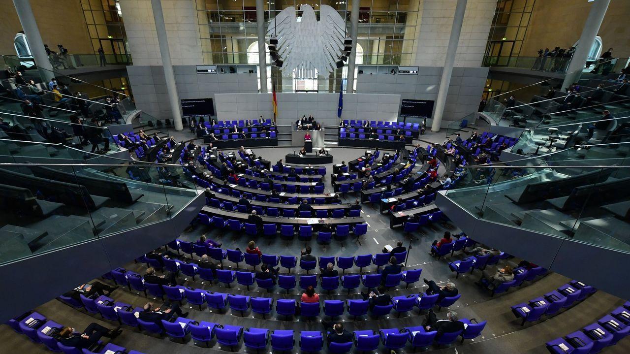 Sesión en el Parlamento federal alemán, Bundestag