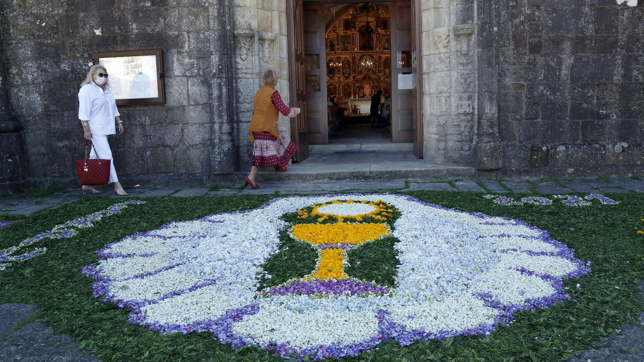 Celebración del Corpus en Barbanza.Ribeira es el concello barbanzano que registra una mayor renta media por hogar