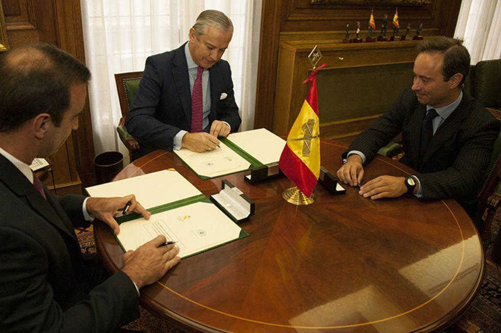 Rajoy con Matas, De Mesa, López Varela y López Veiga