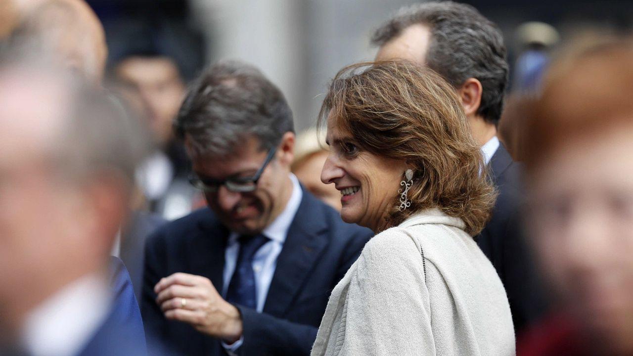 Save a hater.La ministra Teresa Ribera, durante la ceremonia de los Premios Princesa de Asturias
