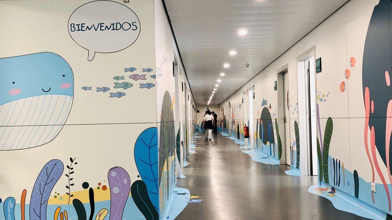 El Materno se sumerge en el mundo marino gracias a la Fundación María José Jove.Los dibujos de Araceli Paz decoran las paredes de urgencias del hospital materno-infantil Teresa Herrera de A Coruña
