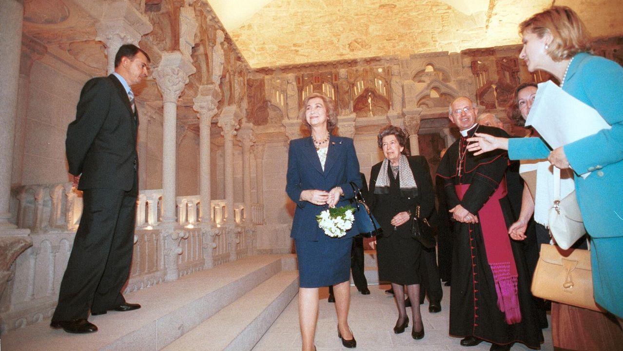 En Santiago, en 1999, con motivo de la restauración del Coro del Maestro Mateo
