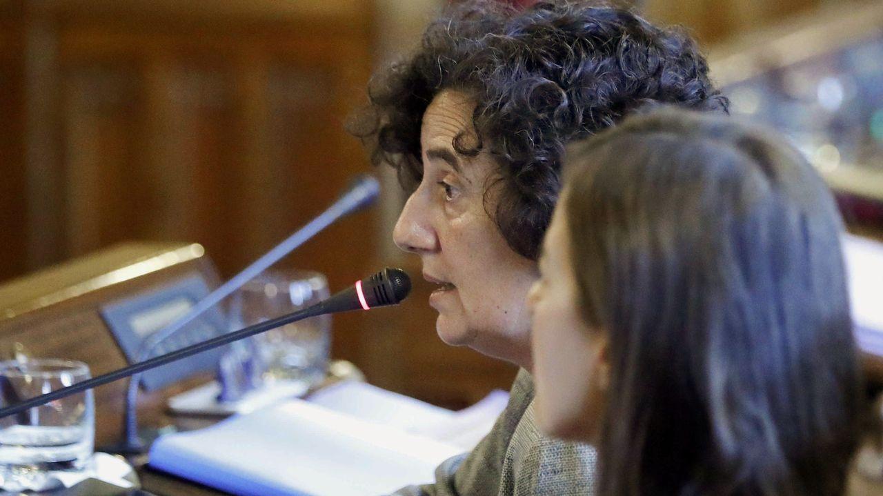 Victorino Alonso.La consejera de Cultura, Política Llingüística y Turismo, Berta Piñán
