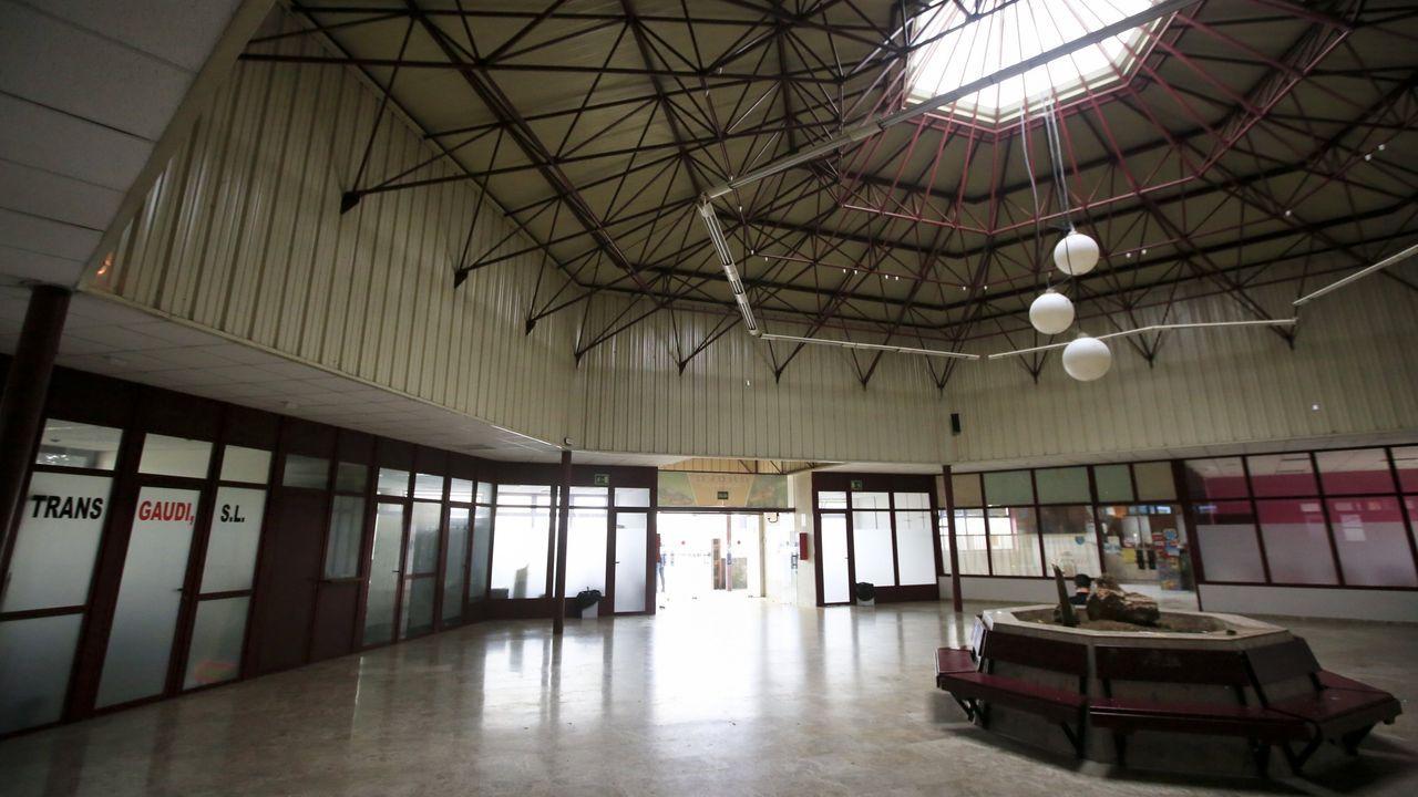 Interior de la estación de autobuses de Vilalba, en foto de archivo