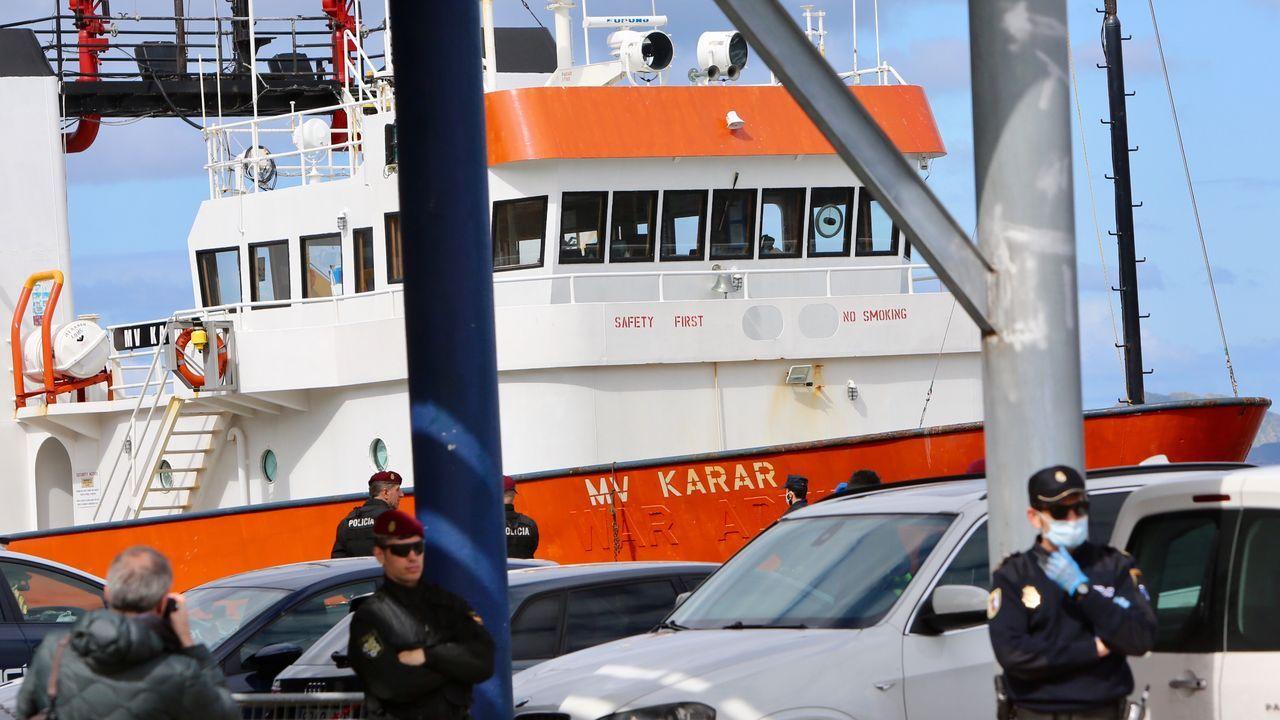El MV Karar fue el primero de los tres barcos interceptados y se trasladó a Vigo para descargar el alijo.