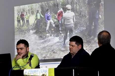 Menéndez, Kiko Iglesias (asociación San Campio) y Evaristo Domínguez intervinieron ayer en la presentación del programa.