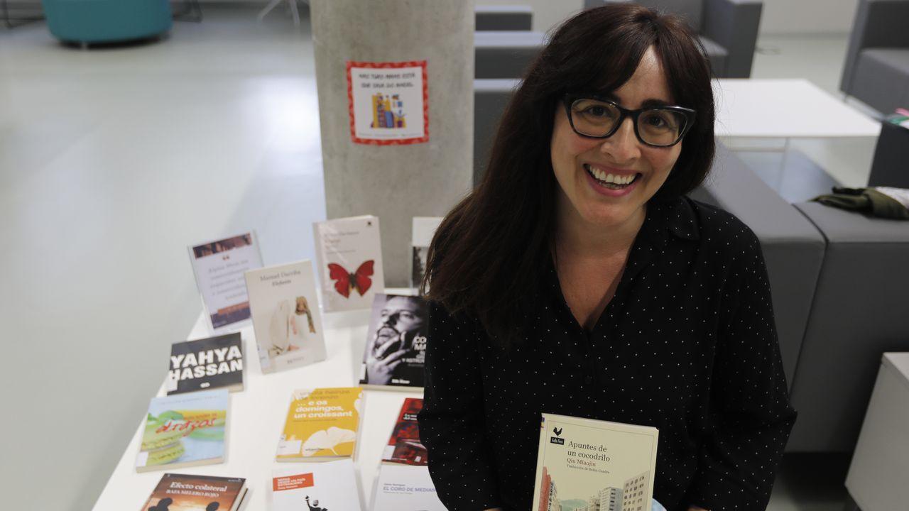 Iria Miguélez se encargó de poner en marcha la cita con los libros olvidados