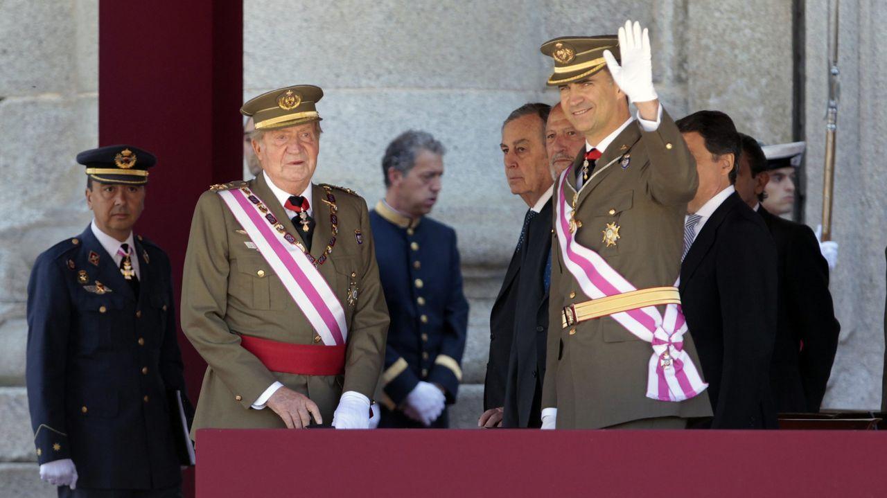 Juan Carlos I junto a Felipe VI en San Lorenzo de El Escorial, en una imagen de archivo
