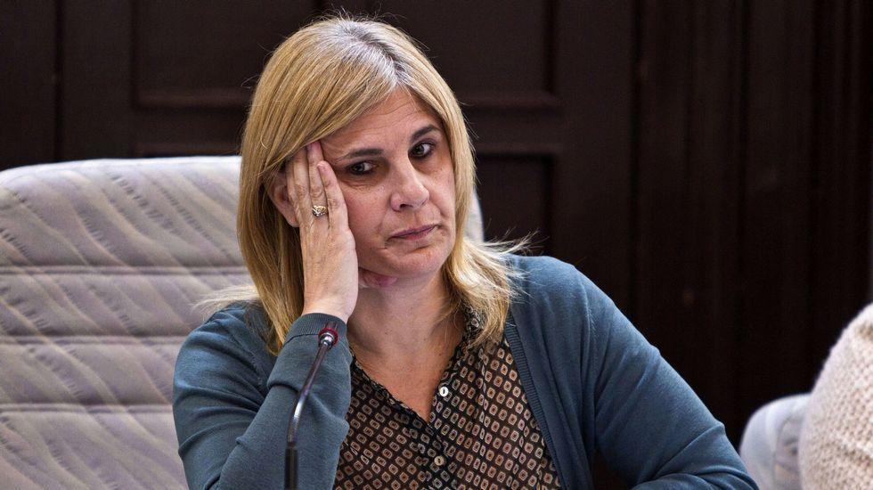 Imanol Arias y Ana Duato, en la Audiencia Nacional.Francisco Granados, durante su declaración por videoconferencia desde la cárcel de Estremera