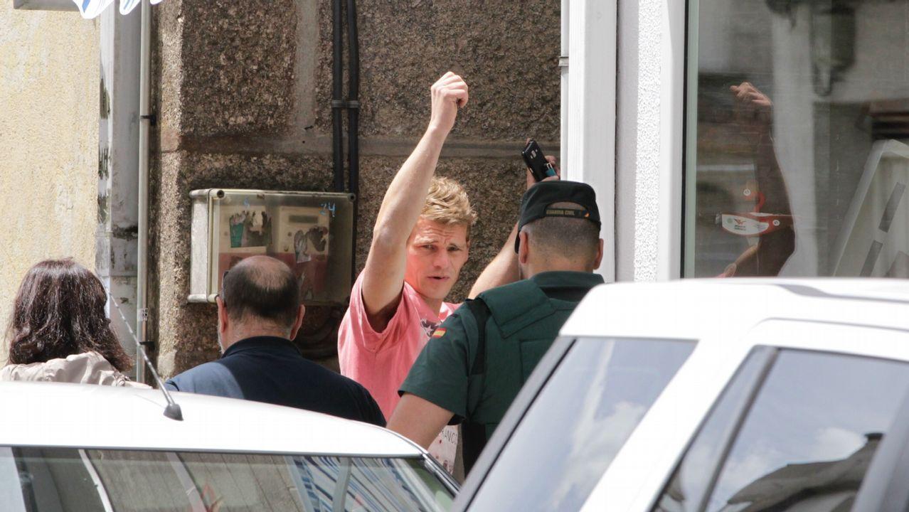 Jurguen, alias el Alemán, fue detenido esta mañana en la puerta de su vivienda