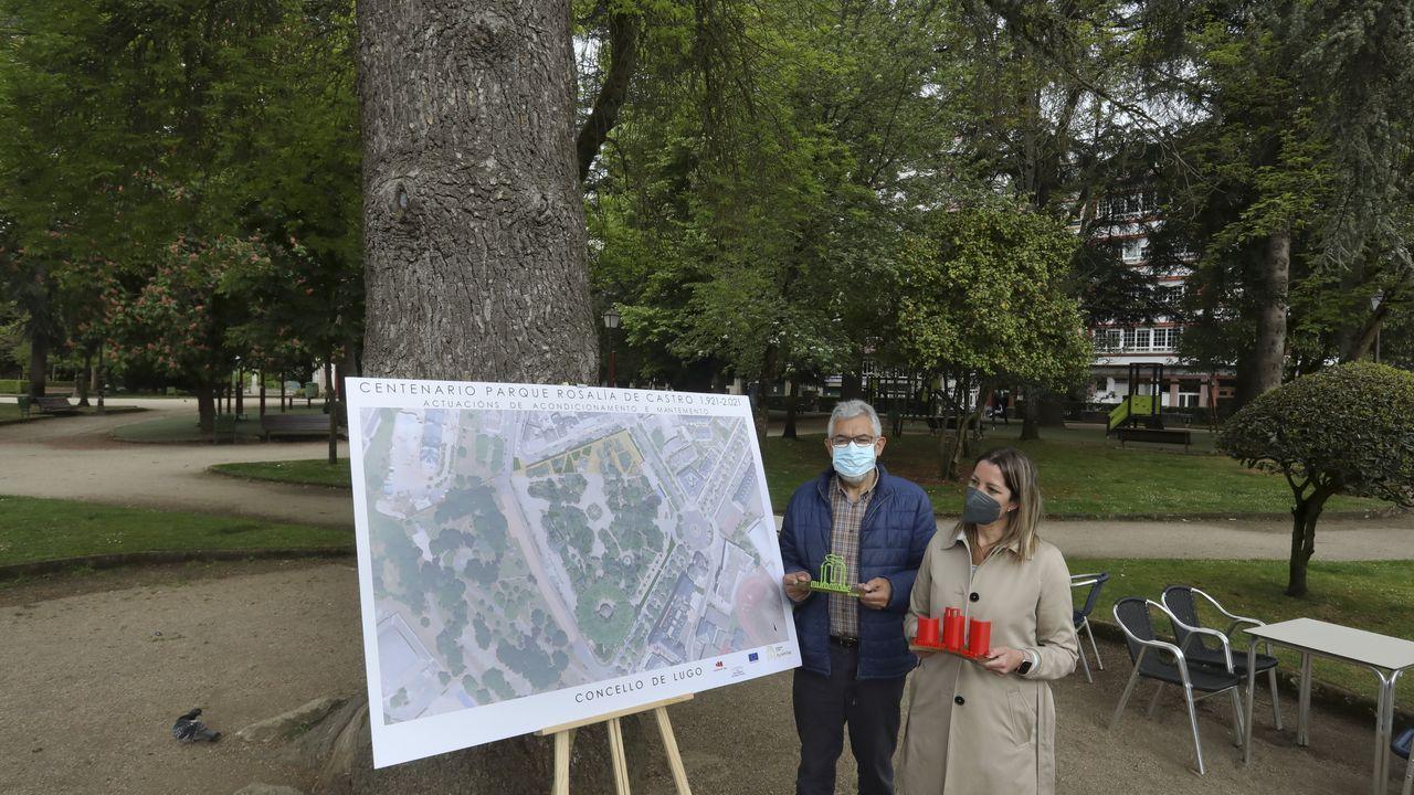 O parque de Rosalía celebra o seu centenario.El parque de Rosalía celebra este año su centenario
