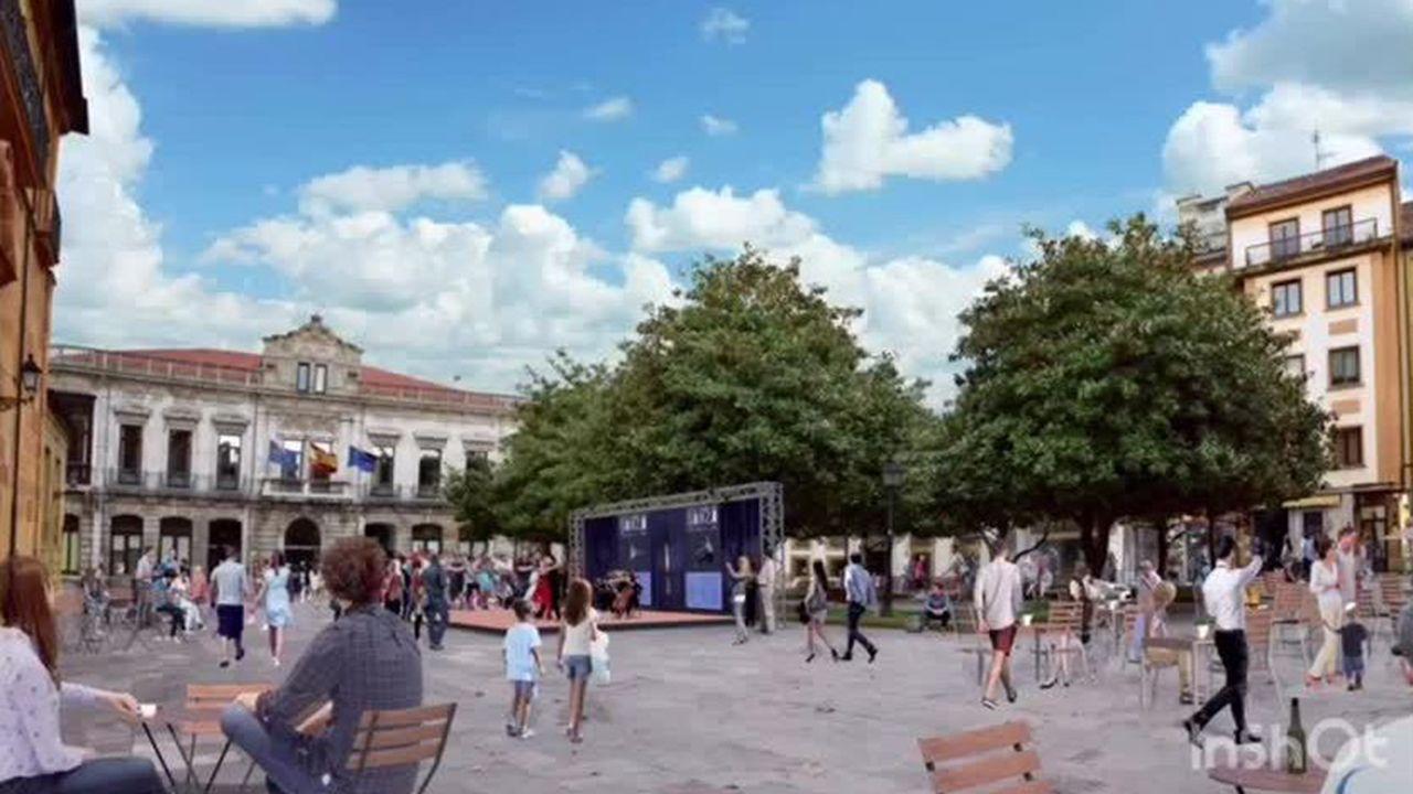 Propuesta del PP para el Oviedo antiguo.Las excavaciones se llevan a cabo en el lugar de Os Conventos, cerca de la orilla del Sil