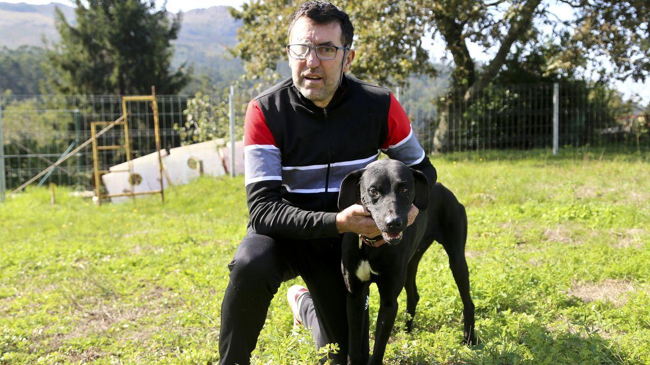 El atleta vigués Alejandro Gómez, afectado de un tumor cerebral.Este matrimonio cuenta que servicios sociales «no ha actuado como debía» en su caso