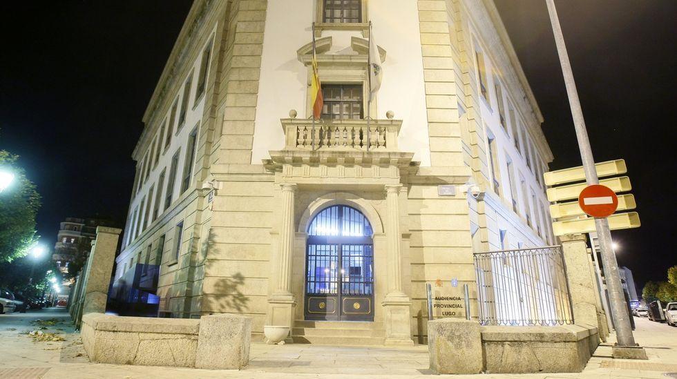 El primer día del gobo de Doade, en fotografías.Entrada de la audiencia provincial de Lugo, donde esta semana se celebrará el juicio contra el hombre acusado de abusar de sus sobrinas