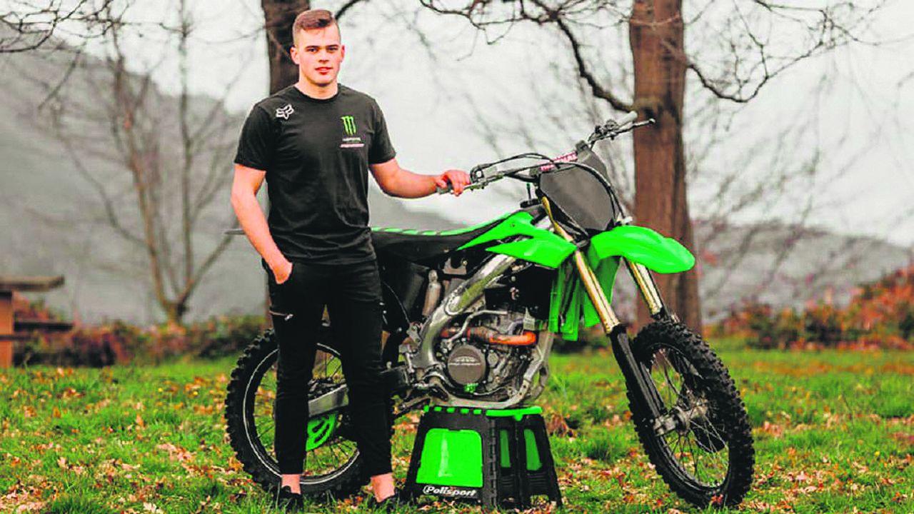 Daniel Díaz, un piloto de motocrós de siete años.Enol Megido perdió la vida al sufrir una caída en un circuito de motocross
