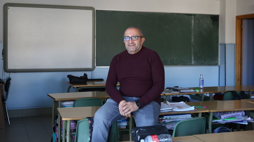 José Antonio Fraga é profesor nun centro de Ourense
