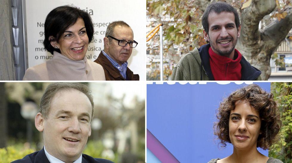 Los 23 diputados gallegos en el Congreso.Pilar Rojo y el arzobispo de Santiago