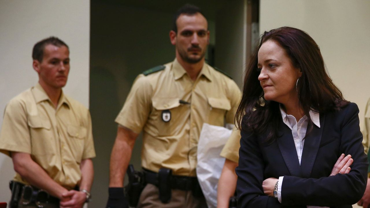 Beate Zschaepe, superviviente del grupo NSU, condenada a cadena perpetua en el 2008, en una imagen de mayo del 2013