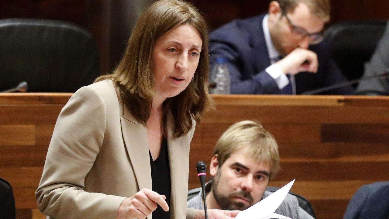 La portavoz de Podemos en el parlamento asturiano, Lorena Gil