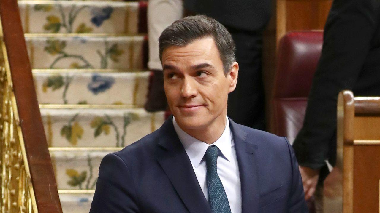Pedro Sánchez, el sábado, durante la primera sesión del debate de investidura