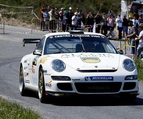 Vallejo, durante una prueba disputada en Monforte.