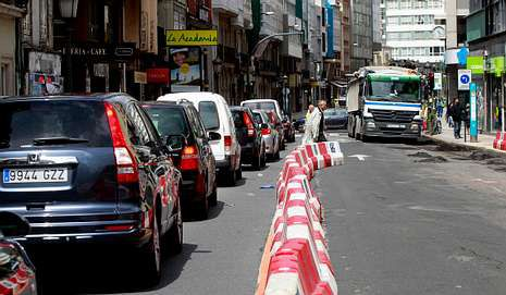 La calle de San Andrés, ayer por la mañana.