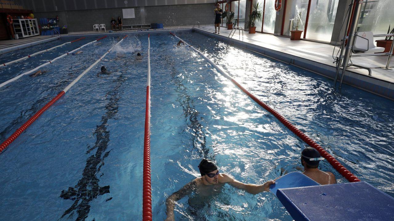 La piscina de Xove, una foto de archivo
