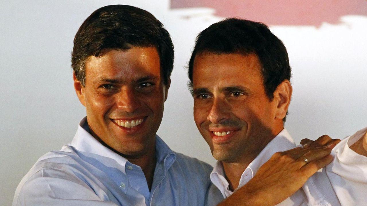 Leopoldo López y Henrique Capriles, en un acto en enero del 2012
