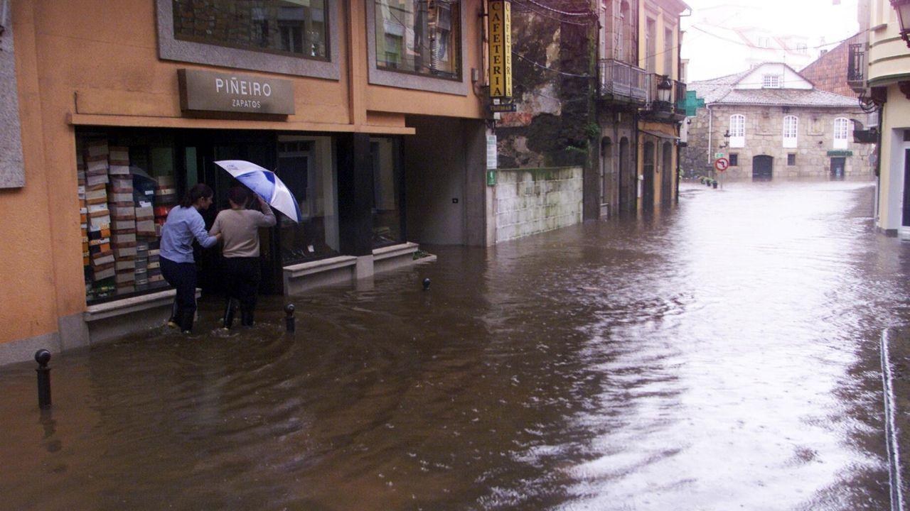Las peores inundaciones en Venecia desde 1966.Inundaciones en el colegio de Jove, este domingo 10 de noviembre