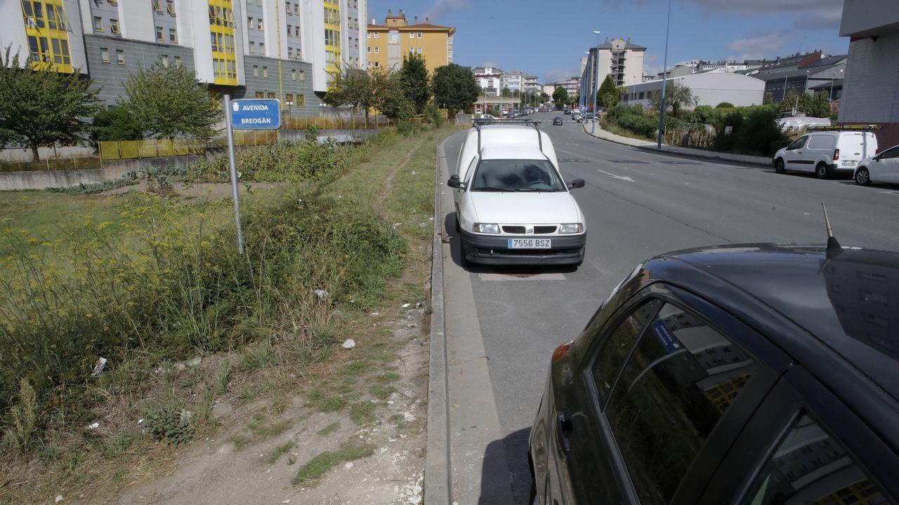 Las calles de A Milagrosa sin aceras