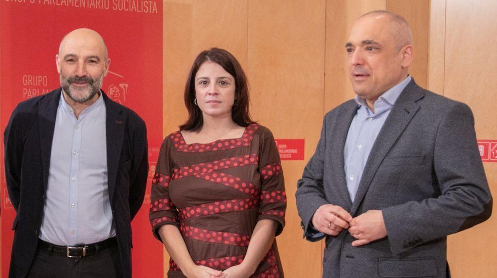 Imagen de archivo con Rego, Lastra y Simancas.