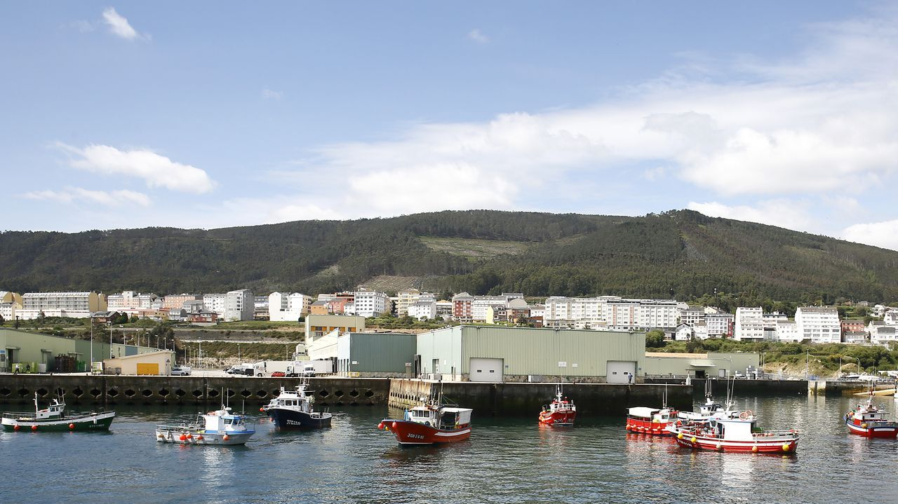 Vídeo de la protesta de la bajura en Burela.Otra imagen de la protesta en A Illa de Arousa