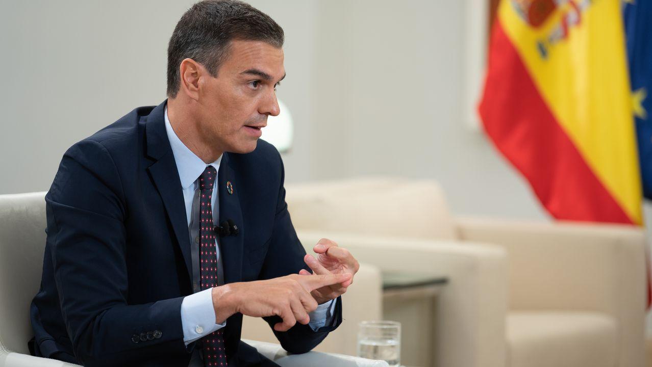 Pedro Sánchez en su intervención de ayer en La Sexta