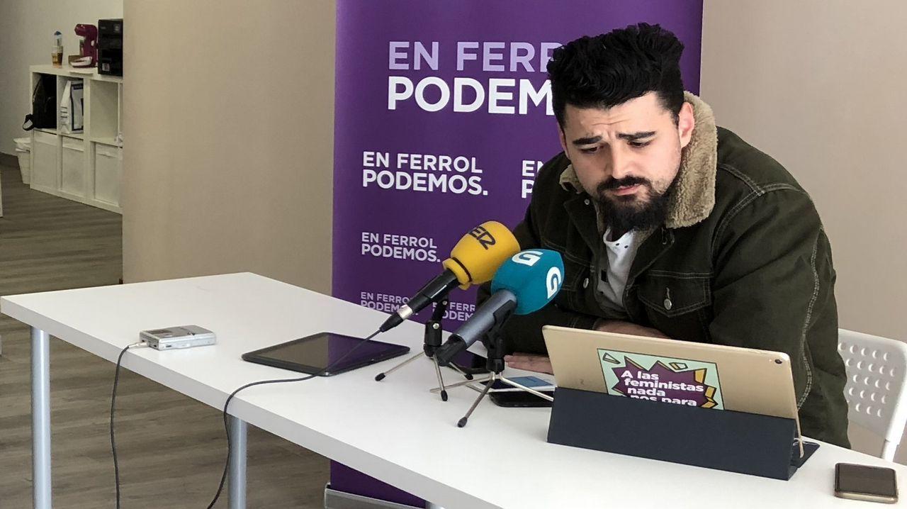 Hallan los cuerpos sin vida de dos hermanos que salieron a pescar en la costa de Ferrol.El secretario general de Podemos en Ferrol, Borja San Ramón, en la rueda de prensa en la que se anunció que Podemos no concurrirá a las municipales