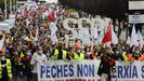 Manifestación por el empleo en A Mariña