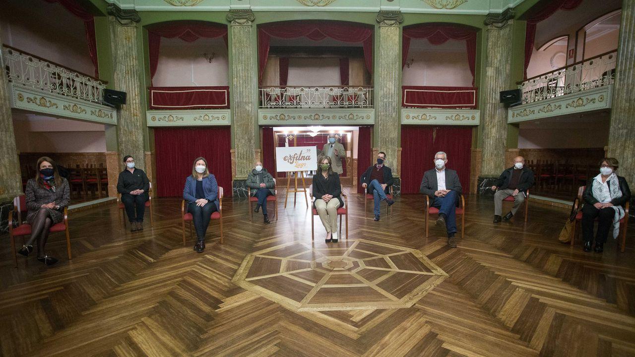 Así es el cámping de A Fonsagrada.El acto de presentación tuvo lugar en el Salón Regio del Círculo de las Artes y fue presidida por Luis Latorre, de la Sociedad Filatélica de Lugo
