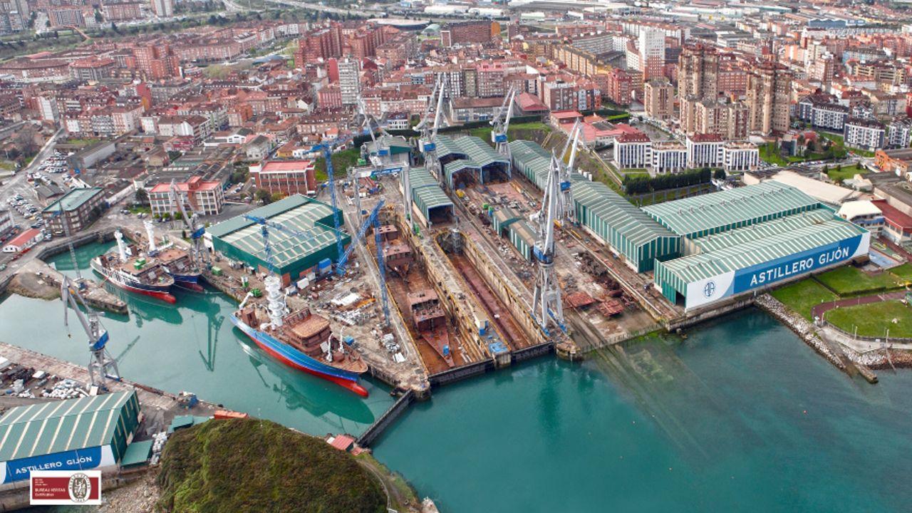 Instalaciones de Astilleros Armón, en Gijón