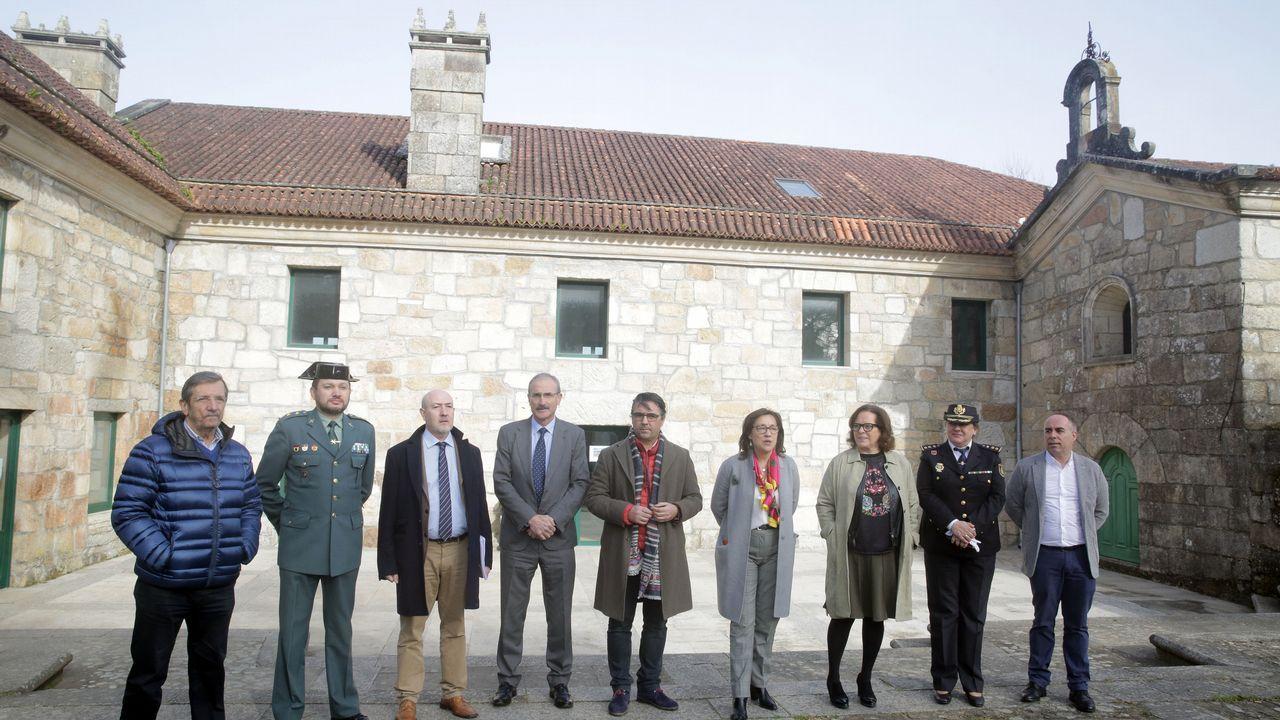 Llegada de Tania Varela para ser juzgada en la Audiencia de Pontevedra.Pedro Nieva, Javier Ardines y Djelali B.