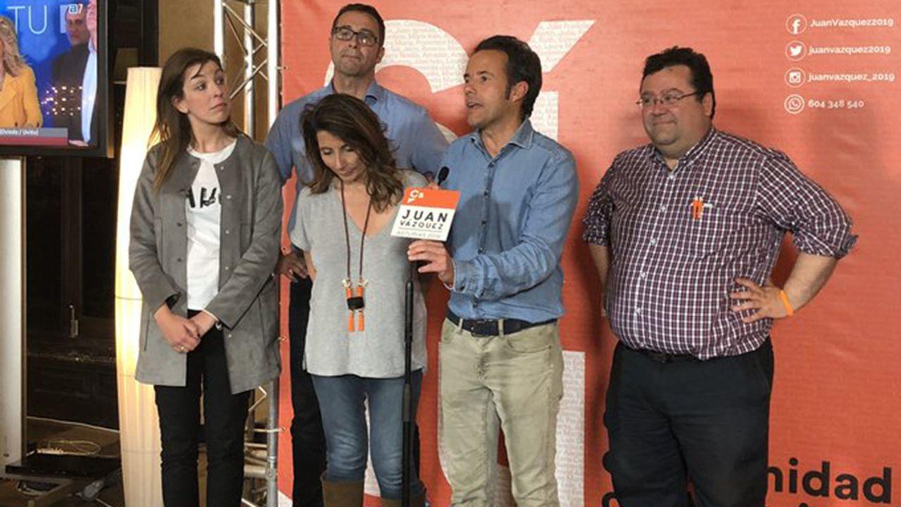 Los cinco concejales electos de Ciudadanos Oviedo