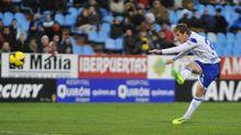 Tarsi Aguado en un Real Zaragoza-Girona