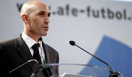El vivero de la Navidad.Luis Rubiales, presidente de la AFE.