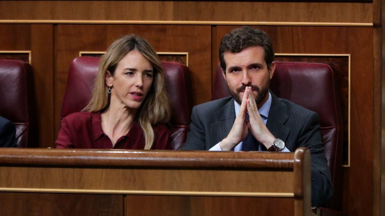 Una diputada del PP acusa a Marlaska de dar instrucciones para permitir la entrada de la vicepresidenta venezolana a España.El diputado de Vox, Iván Espinosa de los Monteros